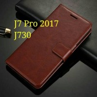 Flip Cover Samsung Galaxy J7 Pro J7Pro 2017 J730 Wallet Leather Case