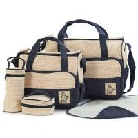 Tas Perlengkapan Bayi 5IN1 - 5 in 1 Baby Diaper Bag travel Multifungsi