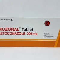 Muzoral tablet ( Ketoconazole ) 200 mg isi 50's
