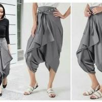 celana pants jinny grey style modis murah Fashion wanita terbaru