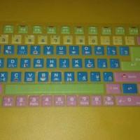 Keyboard sticker warna stiker keyboard Laptop 15 inc #kode karakter 1