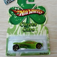 Hot Wheels Sling Shot Clover Cars Green Hotwheels Hijau