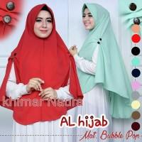 Jual rj19 naura kancing khimar kerudung instan bub(kerudung pesta,hijab,pas Murah