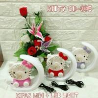 Kipas Angin Portable Unik Karakter Hello kitty With Lampu Tidur