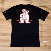 KAOS T SHIRT SKATE GRIZZLY LEADER OF THE PACK BLACK