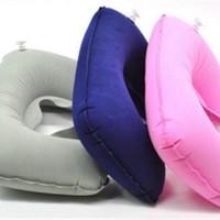Jual Bantal Leher Angin Tiup Set / Travel Pillow Murah
