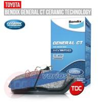 TOYOTA CRESSIDA 94 & GS 131 '88 REAR  BRAKE PAD BENDIX   - TDC VARIASI