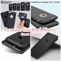 PREMIUM FULL COVER SLIM BLACK MATTE SOFTCASE IPHONE 5/6//6PLUS/7/7PLUS
