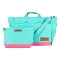 D'renbellony - Jeddy 2 in 1 bag Turquoise Green - Magenta