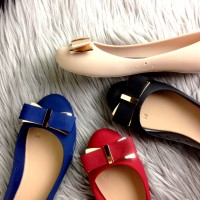 harga Sepatu Fashion Maxwell Jelly Flats Ribbon Semprem A1 Tokopedia.com