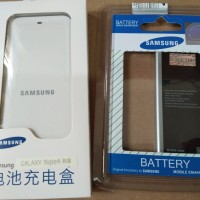 Baterai Batre Battery + desktop charger casan samsung note 4 note4