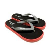 Jual Sandal Fipper Wide Black Peach Grey Murah