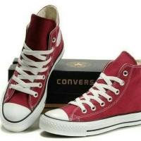 Sepatu Converse All star Merah Maroon Tinggi