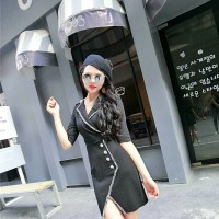 Mini Dress Wanita Slit 30BER