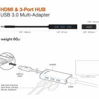 USB 3 0 HDMI 3 Port HUB JUH450 J5Create TERBARU