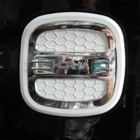 Tank Cover Tutup Tangki Bensin White Chrome Honda All New CRV 2013 2
