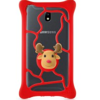 Universal Case Bone Bubble Tie Charm S Red & Charm Deer