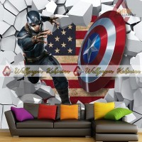Wallpaper Custom 3D Captain America