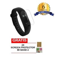 jam tangan pintar  Xiaomi Mi Band 2 OLED Display - BLACK FREE SCREEN