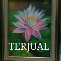 Lukisan Bunga Teratai + BINGKAI