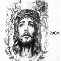 AX-149 JESUS SAVIOR - TEMPORARY TATTOO RELIGIUS ART JESUS CHRIST PIC