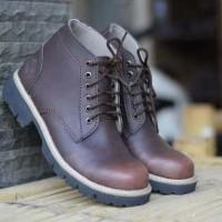 Sepatu Timberland Skywape Safety Boots Kulit Coklat