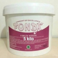 Fondant Fondx Gula Dekor Hiasan Kue Fondant Putih kemasan 1 kg