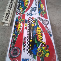 EXCLUSIVE Striping Sticker Lis Motor Variasi Honda C70-Pitung Minion Z