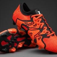 Sepatu Bola Adidas X15+ PrimeKnit FG AG Solar Orange Core