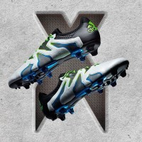 Sepatu Bola Adidas X 15+ SL FG AG White Core Black Shock
