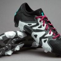 Sepatu Bola Adidas X 15+ PrimeKnit FG AG Core Black