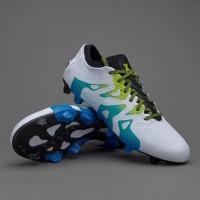Sepatu Bola Adidas X 15+ PrimeKnit FG AG Pro White Green