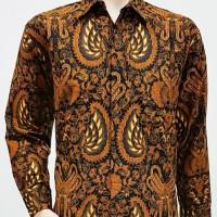 Jual Kemeja Hem Baju Seragam Pria Batik Lengan Panjang 2071 Gurdo Murah