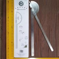 Penggaris Protractor Stainless Busur Derajat 25 cm half Round CMART