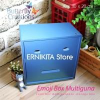 harga Emoji Box Multiguna - Organizer Box, Kotak Simpan, Fun Cabinet Tokopedia.com