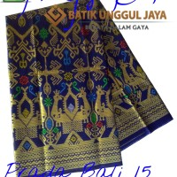 Jual Kain Batik Pekalongan Primisima Halus Prada Bali 15 Biru Unggul Jaya Murah