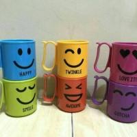 Tupperware emoticon mug/micro mug/gelas plastik/mug plastik anti pecah