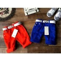 harga (b00949no2) Celana Pendek Ripped Jeans Merah Dan Ikat Pinggang Tokopedia.com