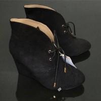 sepatu boots wanita hitam fashion pesta party zara shoes original 100%