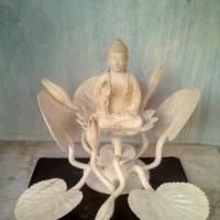 Ukiran Budha Sakyamuni Sidharta Gautama Simbol Kedamaian & Kebahagiaan