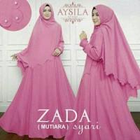 Baju Busana Muslim / Gamis Polos Zada Mutiara Syari Sett Dusty Murah