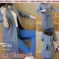 K1810 VL long blazer obi/4W geser gambar kekiri/blazer wanita/coat
