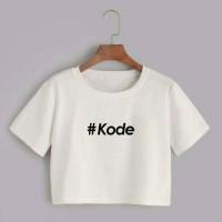 Baju Fashion Blouse Dress Wanita Online / Crop Tee Kode 3w #HM13