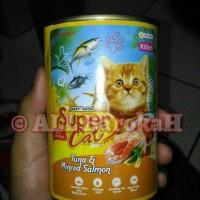 Makanan Kucing Murah SUPER CAT ( Kitten Tuna & Minced Salmon ) 400gr