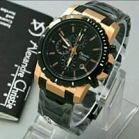 harga Jam Tangan Pria Alexandre Christie Ac6141 Black Gold Tokopedia.com