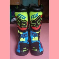 harga Promo Murah Sepatu Printing Trail Cross Motocross Fox Hijau Tokopedia.com