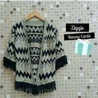Jual Ziggie Kimono Cardie, Cardigan Outer Rajut Tribal Sweater Wanita Murah Murah