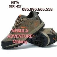 Jual Sepatu Hiking KETA seri 427 ( Coklat & Abu2 ) Murah