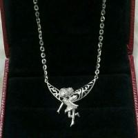 Harga perhiasan kalung liontin perak silver 925 lapis emas putih | Pembandingharga.com