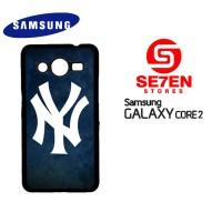 Casing Samsung Galaxy Core 2 Yankees Logo Custom Hardcase